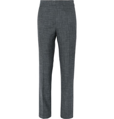 Kingsman Grey Harry Slim-Fit Wool, Silk and Linen-Blend Suit Trousers