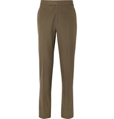 Kingsman Khaki Eggsy Slim-Fit Cotton Suit Trousers