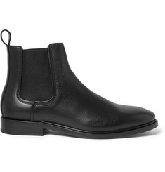 Lanvin Pebble-Grain Leather Chelsea Boots