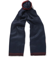 Ermenegildo Zegna - Double-Sided Cashmere and Silk-Blend Scarf