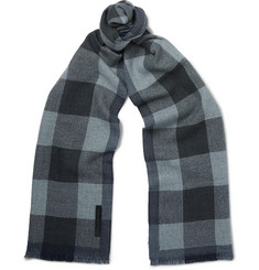 Ermenegildo Zegna Checked Wool Scarf