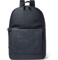 Ermenegildo Zegna Pelle Tessuta Leather Backpack