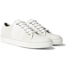 Lanvin - Cap-Toe Panelled Suede and Leather Sneakers