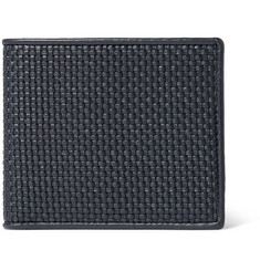 Ermenegildo Zegna Pelle Tessuta Woven Leather Billfold Wallet
