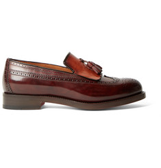 Santoni Two-Tone Leather Kiltie Tasselled Loafers