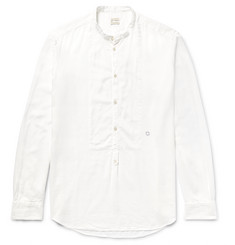 Massimo Alba Grandad-Collar Modal and Cotton-Blend Shirt