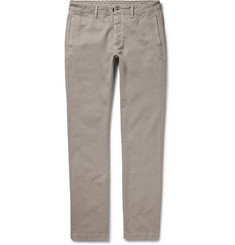 Massimo Alba Slim-Fit Cotton and Cashmere-Blend Chinos