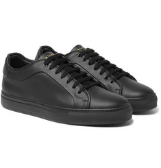 - Basso Matte-Leather Sneakers