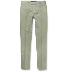 Incotex Chinolino Slim-Fit Linen and Cotton-Blend Trousers