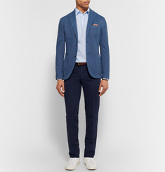 Incotex Chinolino Slim-Fit Linen and Cotton-Blend Twill Trousers