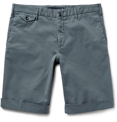 Incotex - Royal Batavia Slim-Fit Stretch-Cotton Twill Shorts