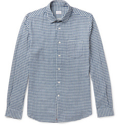 Incotex Ted Slim-Fit Penny-Collar Gingham Cotton Shirt