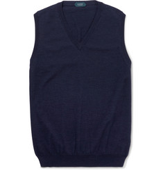 Incotex Knitted Cotton-Blend Sweater Vest