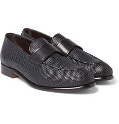 Ermenegildo Zegna - Pelle Tessuta Leather Loafers