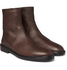 Burberry - Towersley Grained-Leather Boots