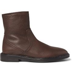 Burberry Grained-Leather Boots
