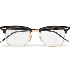 Thom Browne - Square-Frame Acetate and Metal Optical Glasses