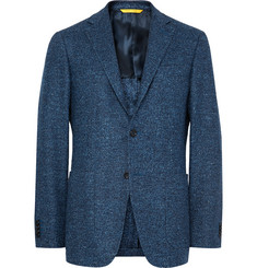 Canali Blue Kei Slim-Fit Wool-Blend Tweed Blazer