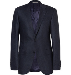 Canali - Blue Sienna Slim-Fit Slub Wool and Silk-Blend Suit Jacket