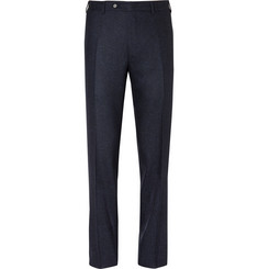 Canali Blue Sienna Slim-Fit Slub Wool and Silk-Blend Suit Trousers