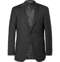 Canali - Charcoal Sienna Slim-Fit Checked Super 130s Wool Suit Jacket