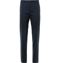 Canali Navy Valencia Slim-Fit Stretch-Wool Travel Suit Trousers