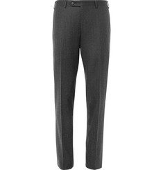 Canali Grey Firenze Slim-Fit Super 120s Wool Trousers