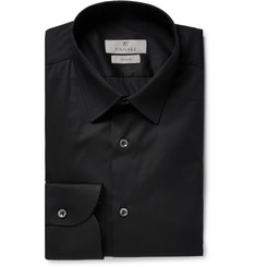 Canali - Black Slim-Fit Stretch Cotton-Blend Poplin Shirt