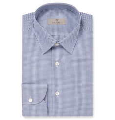 Canali - Blue Slim-Fit Gingham Cotton Shirt