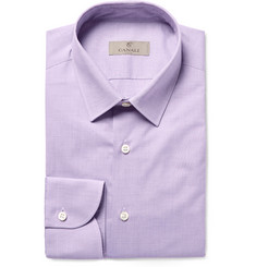 Canali - Lilac Slim-Fit End-On-End Cotton Shirt