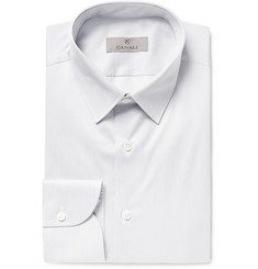 Canali - Slim-Fit Striped Cotton Shirt