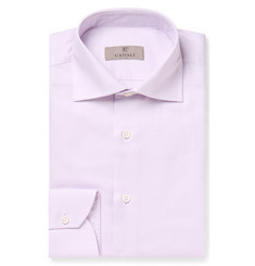Canali Lilac Slim-Fit Cutaway-Collar Pin-Dot Cotton Shirt