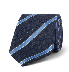 Canali - Striped Woven Silk Tie