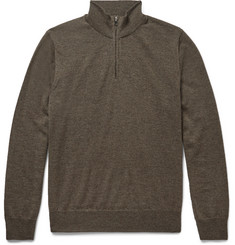 Canali Merino Wool Zip-Through Sweater