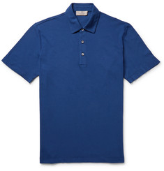 Canali Slim-Fit Stretch-Cotton Piqué Polo Shirt