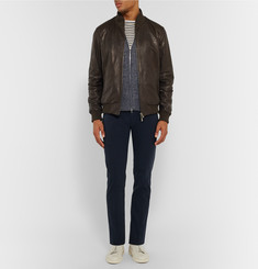 Isaia - Reversible Leather Bomber Jacket