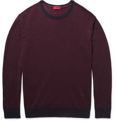 Isaia Wool, Silk and Cashmere-Blend Sweater
