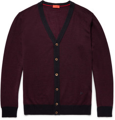 Isaia Wool, Silk and Cashmere-Blend Cardigan