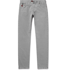 Isaia - Slim-Fit Washed Selvedge Denim Jeans