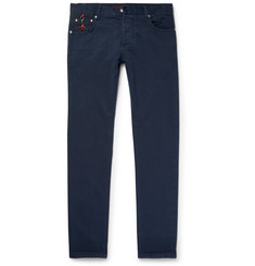 Isaia Slim-Fit Washed Selvedge Denim Jeans
