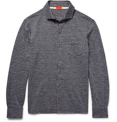 Isaia - Slim-Fit Gingham Cotton-Flannel Shirt