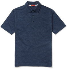 Isaia Slim-Fit Herringbone Cotton Polo Shirt