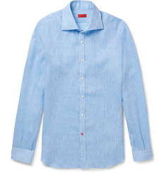 Isaia Slim-Fit Slub Linen Shirt