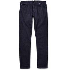 Isaia - Slim-Fit Washed Selvedge Stretch-Denim Jeans