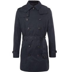 Burberry Brit Cotton-Gabardine Hooded Trench Coat