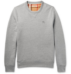 Burberry Fleece-Back Cotton-Blend Jersey Sweatshirt