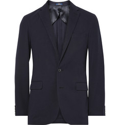 Polo Ralph Lauren Blue Morgan Slim-Fit Cotton-Blend Jersey Blazer