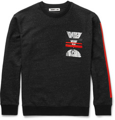 McQ Alexander McQueen Embroidered Loopback Cotton-Blend Jersey Sweatshirt
