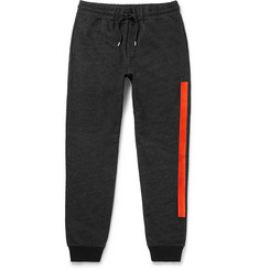 McQ Alexander McQueen Slim-Fit Embroidered Loopback Cotton-Blend Jersey Sweatpants