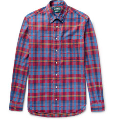 Gitman Vintage Button-Down Collar Checked Cotton Shirt